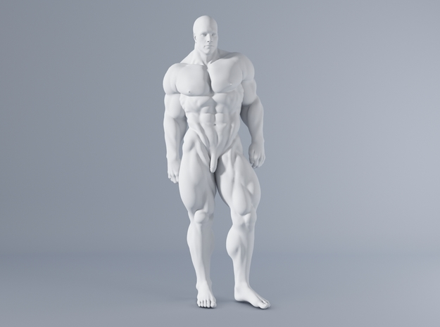 Mini Strong Man 1/64 011 in Smooth Fine Detail Plastic: 1:64 - S