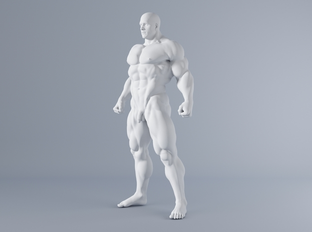 Mini Strong Man 1/64 025 in Smooth Fine Detail Plastic: 1:64 - S