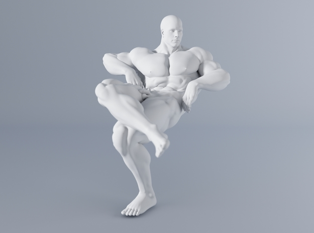 Mini Strong Man 1/64 035 in Smooth Fine Detail Plastic: 1:64 - S