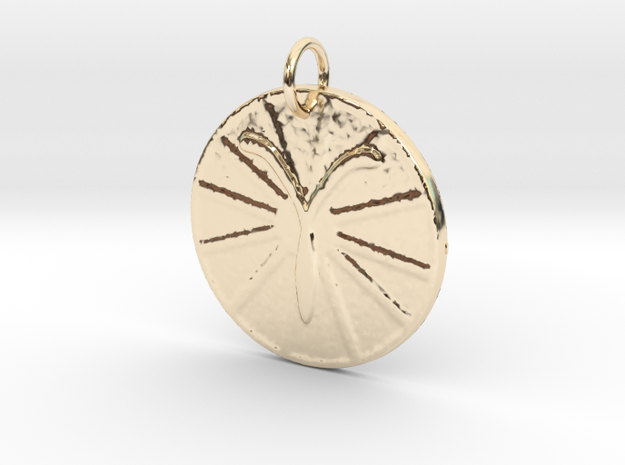 Aries Wheel by ~M. (Mar. 21 - Apr. 19) in 14k Gold Plated Brass