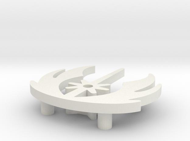 Light Order w/feet in White Natural Versatile Plastic