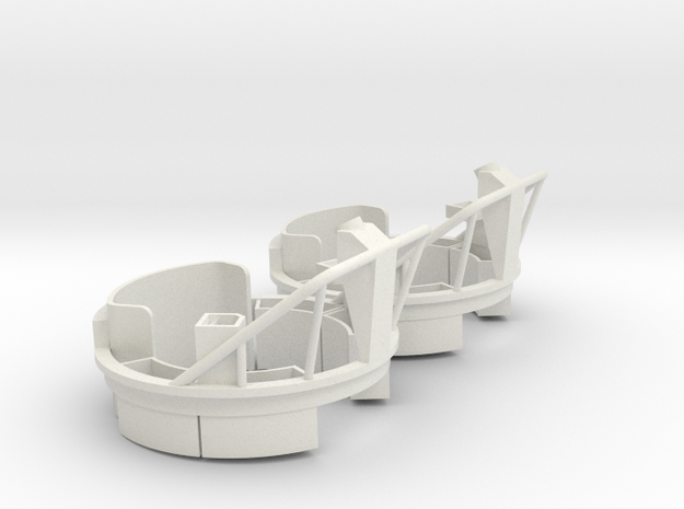 Mk17 Carriage (pair, multiple scales) in White Strong & Flexible: 1:24