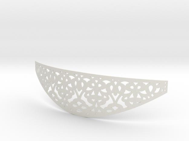 "Sansa ""Metal"" Belt in White Natural Versatile Plastic"