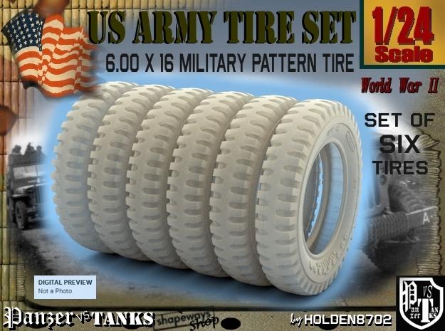 1-24 SIX UNITS Tire 600x16