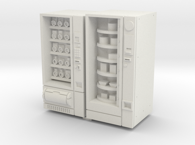 35mm Scale Snack And Food Vending Machine in White Strong & Flexible