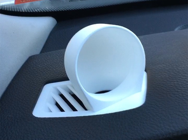 E90/E91/E92/E92 Defroster Vent Gauge Pod (45mm) in White Strong & Flexible Polished