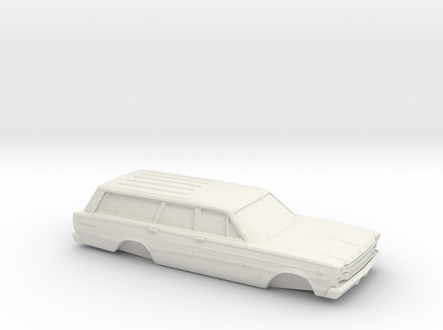 1/25 1966 Ford Country Squire in White Natural Versatile Plastic