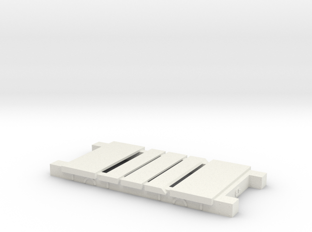 Mid-Wales/Cambrian  BV Chassis (7mm) in White Natural Versatile Plastic: 1:43.5