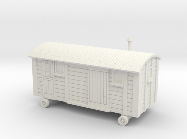 TT Scale Shepherds Hut in White Natural Versatile Plastic