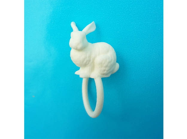 Ring Rabbit 17 size S 3d printed