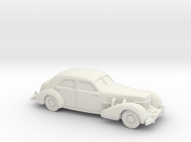 1/87 1935 Cord 812 Sedan in White Natural Versatile Plastic