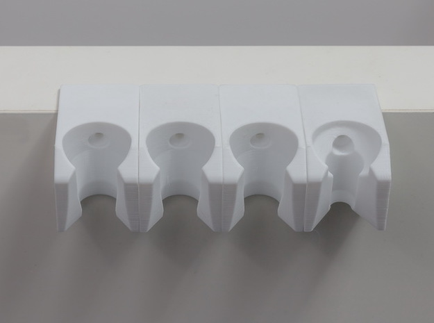 Dental Handpiece Holder  in White Strong & Flexible: Large