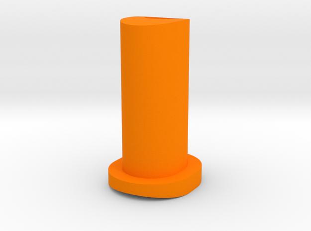 GF5 Plus 10 Caster Insert (Orange) in Orange Processed Versatile Plastic