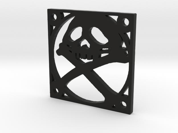 "Fan Grille 30x30mm ""Pyrat"" in Black Natural Versatile Plastic"