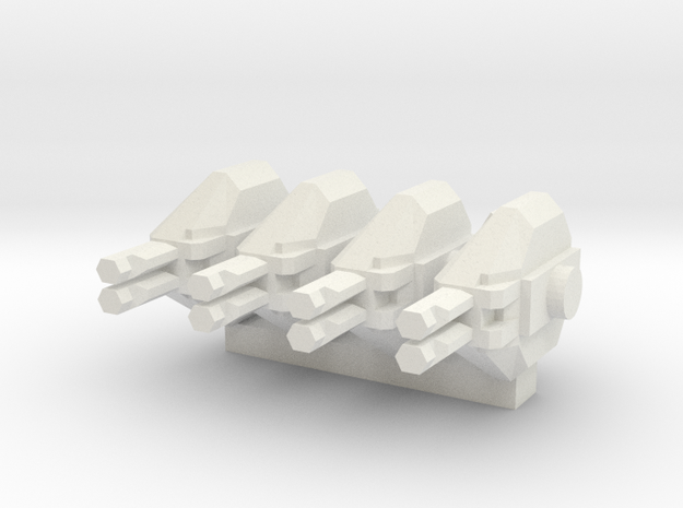 Colonial Marine APC 1 To 285 Extra Turrets V2 4 Tu in White Strong & Flexible