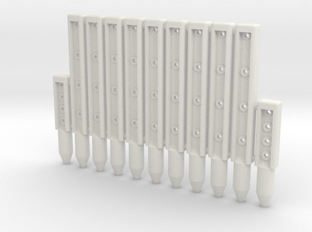 BP3-11, Wire-Rope Safety Barrier Posts in White Natural Versatile Plastic