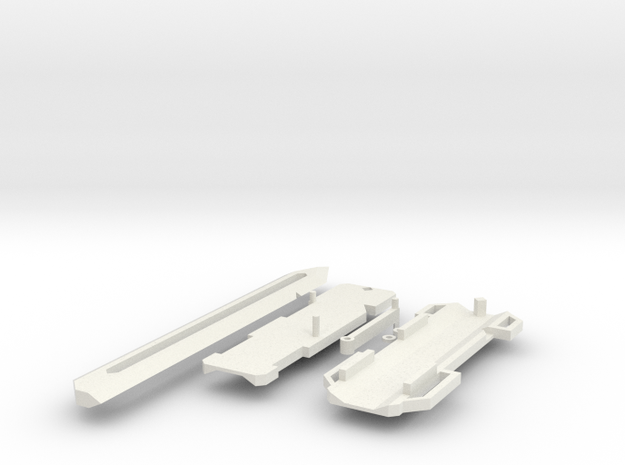 HO hidden Blade (hand operated) in White Natural Versatile Plastic