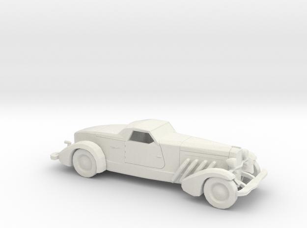 1/72 1935 Duesenberg Style Boattail in White Natural Versatile Plastic