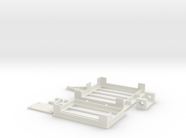 Mini-z Trailer V2 in White Natural Versatile Plastic