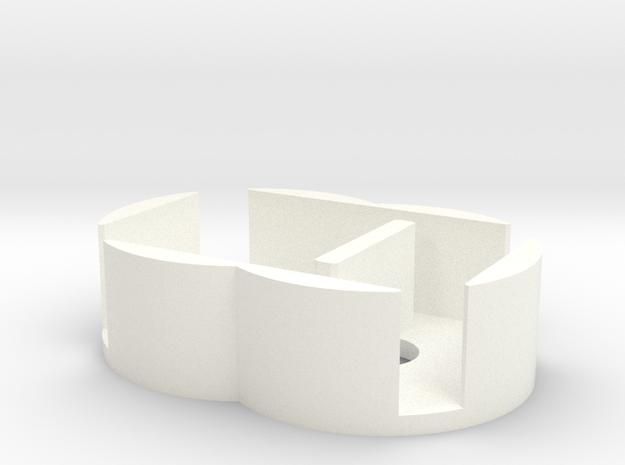 D6 Holder - Expanded in White Strong & Flexible Polished