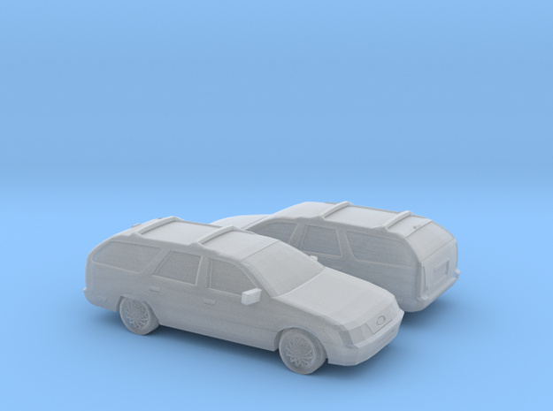 1/160 2X 1985-91 Ford Taurus Wagon in Smooth Fine Detail Plastic