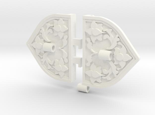 Khaleesi Wedding Armband Findings in White Processed Versatile Plastic