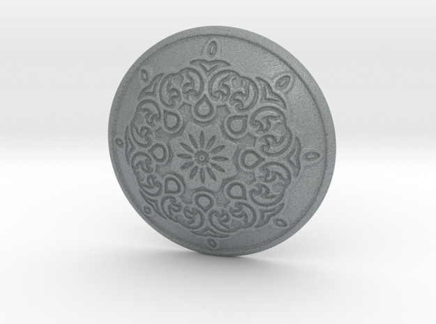 Button in Polished Metallic Plastic