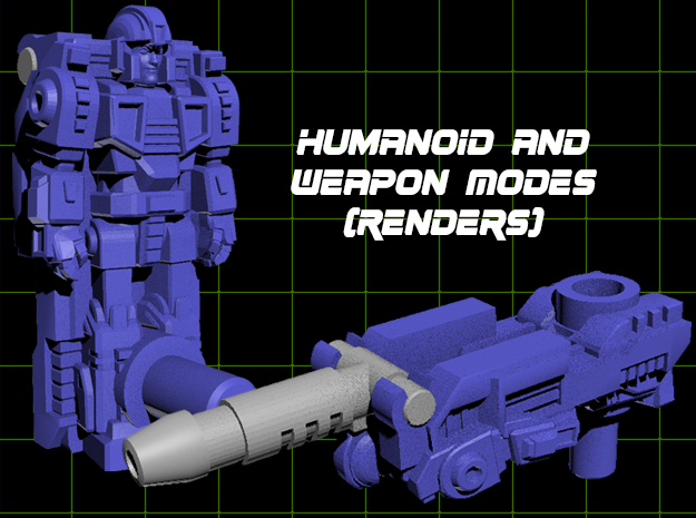 Tyr Gaus Transforming Weaponoid Kit (5mm) in White Natural Versatile Plastic