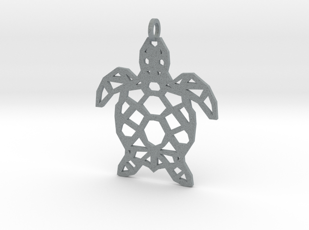 Geometric Turle Necklace in Polished Metallic Plastic