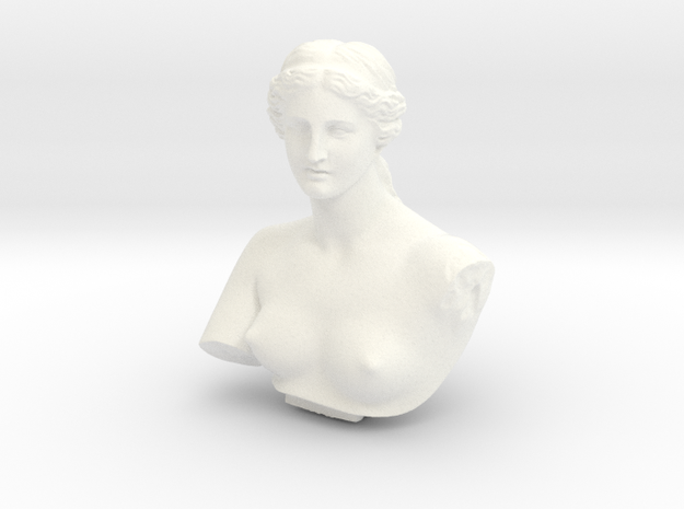 Venus de Milo in White Processed Versatile Plastic: Medium