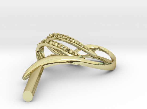 """Ohrring """"Rohling"""" in 18k Gold"""