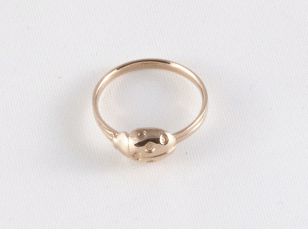 Ladybug 'Loved' Ring in 14k Rose Gold