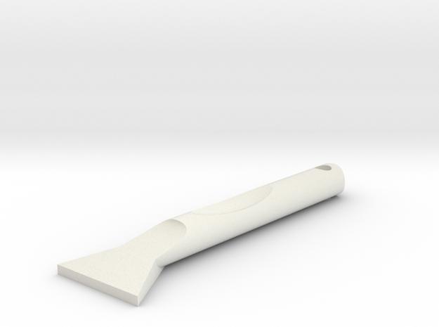 Mini Ice Scraper in White Strong & Flexible