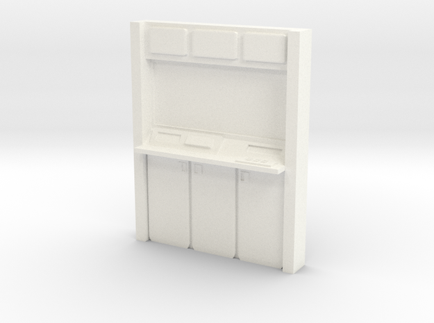Console Wall Input Unit in White Processed Versatile Plastic