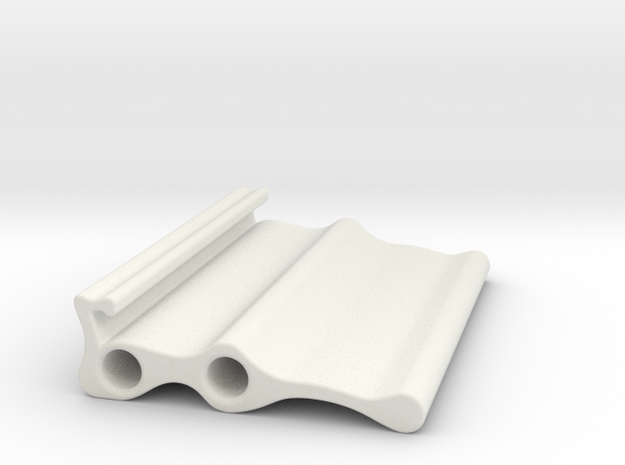 LLS Sample Holder Triple in White Natural Versatile Plastic