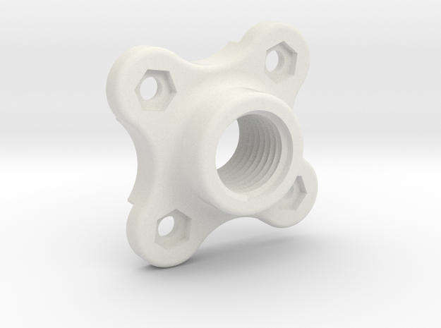 CoolantTubeMagnetMount in White Natural Versatile Plastic