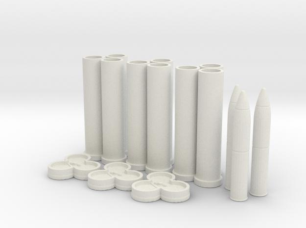 1:18 Pack Howitzer 75mm Ammo Bundle v1 in White Natural Versatile Plastic