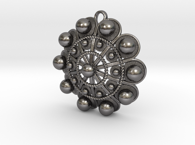 "Charro Pendant, 40mm (1.6"") in Polished Nickel Steel"