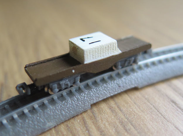 1/450 UK Nuclear Flask Wagon in Smooth Fine Detail Plastic