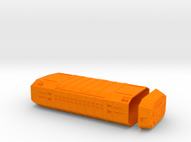 1/350 Imperial Zeta-Class Cargo Pod in Orange Strong & Flexible Polished
