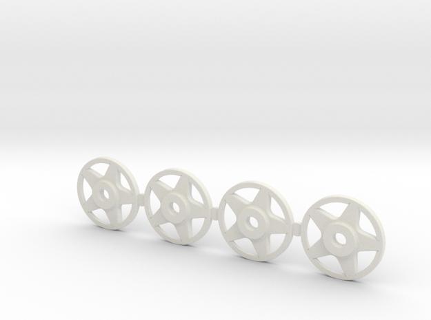 4 Tapacubos Compomotive Para Llanta De 19mm in White Natural Versatile Plastic
