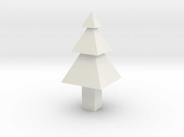 Christmas Tree Ornament in White Strong & Flexible