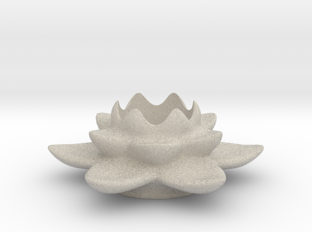 Lotus Candleholder / Kerzenhalter in Natural Sandstone