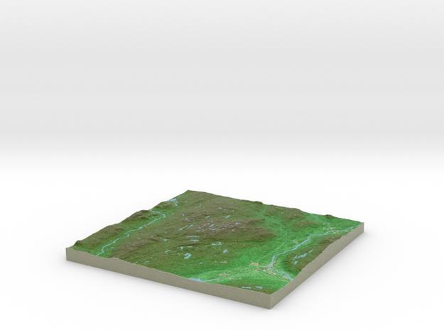 Terrafab generated model Tue Jan 24 2017 09:34:07  in Full Color Sandstone