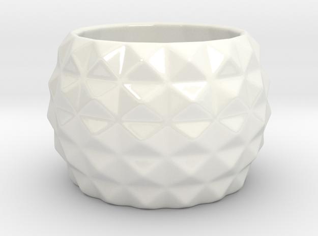 Modern round planter in Gloss White Porcelain