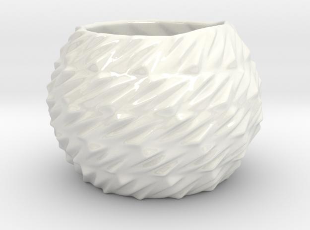 Indoor planter in Gloss White Porcelain