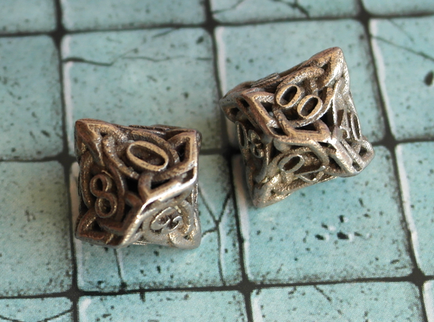 Celtic Percentile D10, D100 Two Dice Set