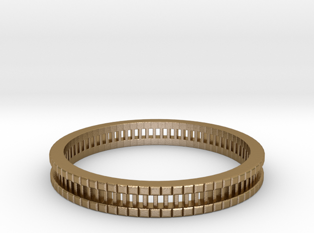 Bracelet D Small 2.0 Inch-52 Mm in Polished Gold Steel