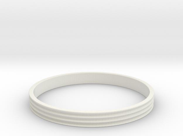 Bracelet  Ø2.5 Inch- Ø64 Mm in White Natural Versatile Plastic