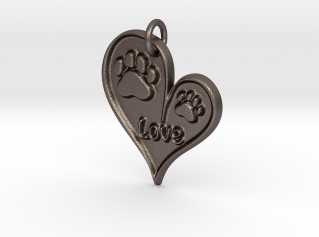 Pet Love Pendant in Stainless Steel